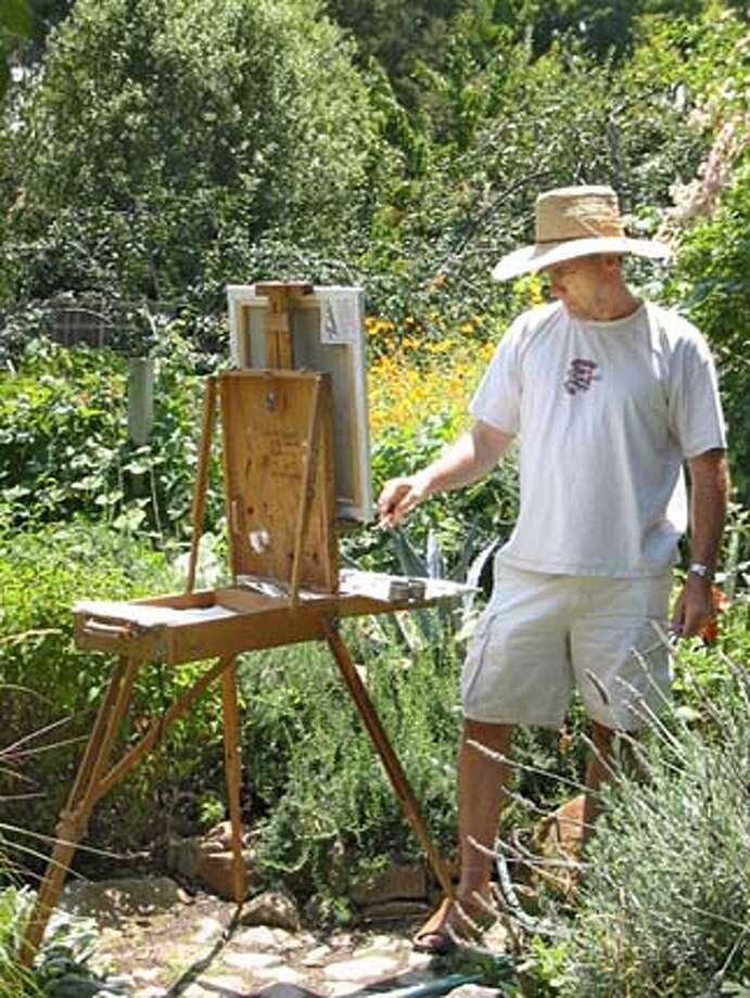 Sonoma artist Keith Wicks paints amid the elements. Wicks had attended several plein air events before deciding to start one in Sonoma.