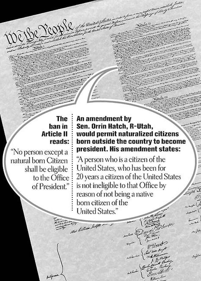 """The """"Arnold Amendment."""" Chronicle graphic by Lance Jackson"""