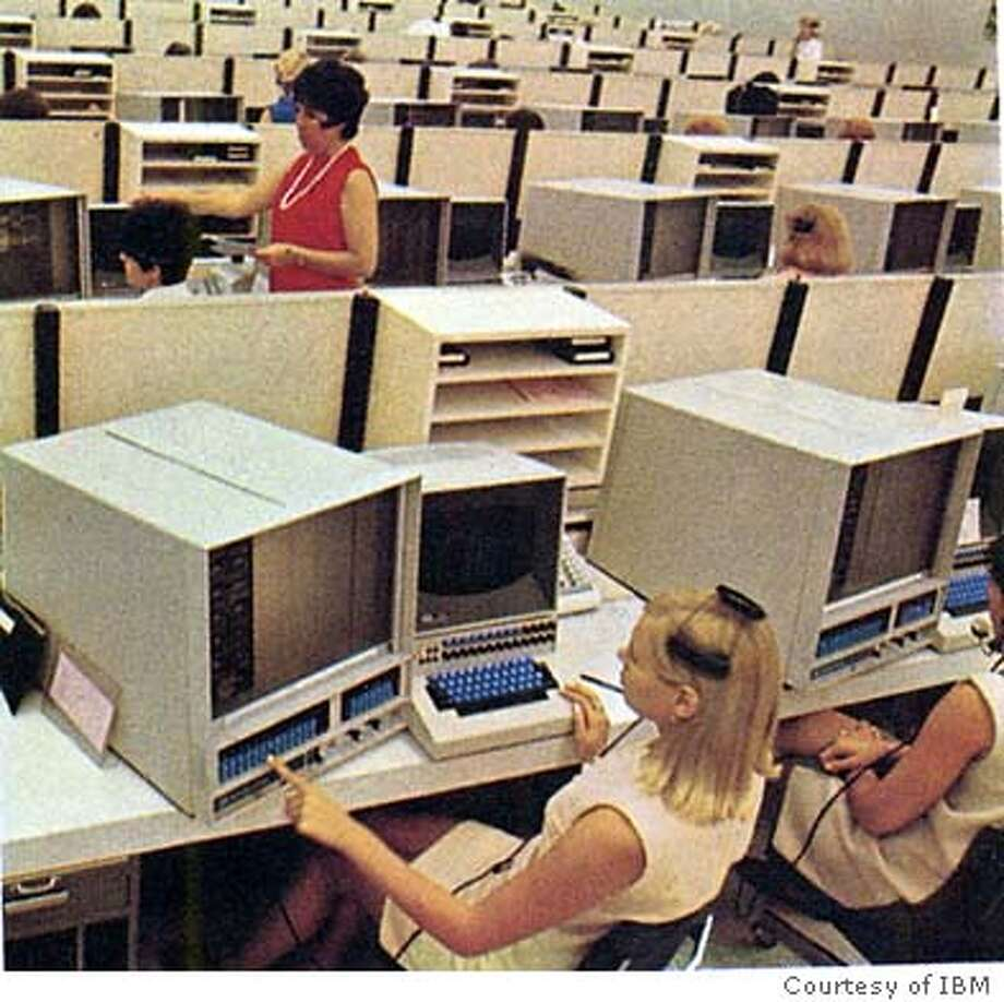 IBM's System/360 mainframe runs a network of terminals used for airline reservations.