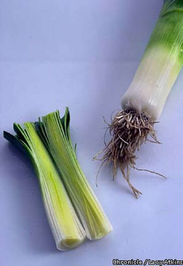 A member of the onion family, leeks are milder than most of their bulbous relatives. Chronicle photo by Lacy Atkins