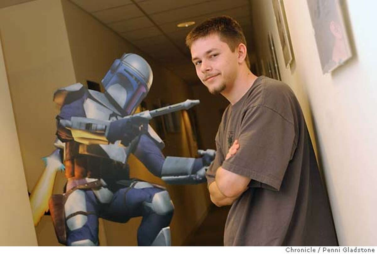 RYAN Wieber a 19 yr old san jose native hired by gaming firm division of George Lucas' entertainment empire. on 5/20/04 in San Rafael, CA. must credit photo by Penni Gladstone/