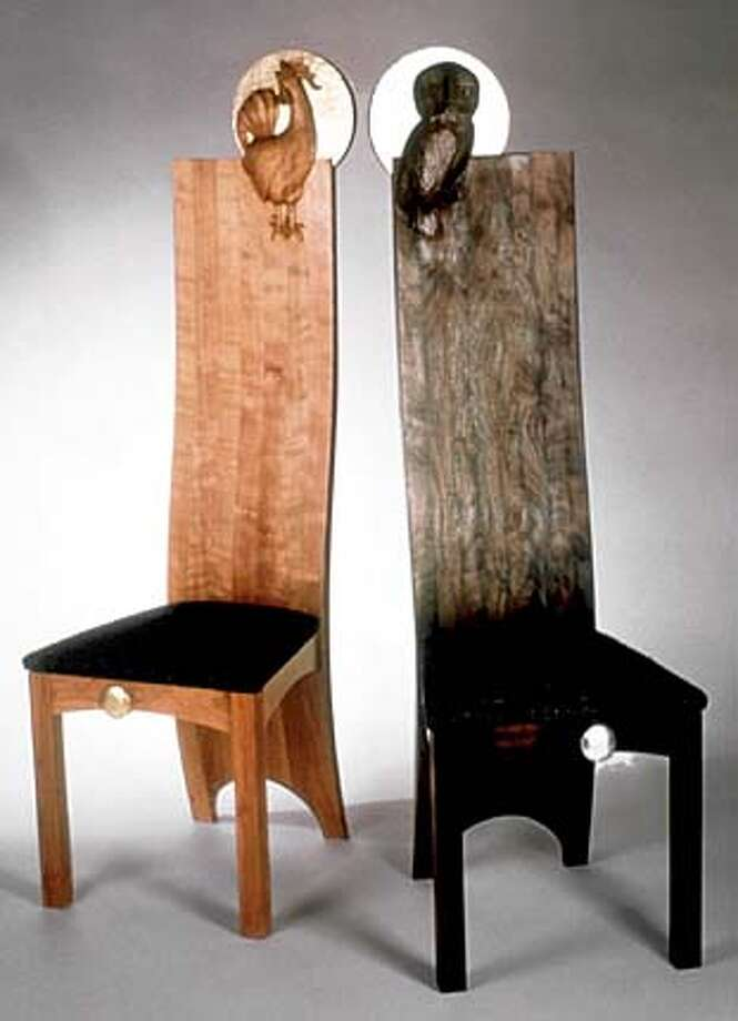 Reiber's Day and Night chairs ($5,800 the pair)