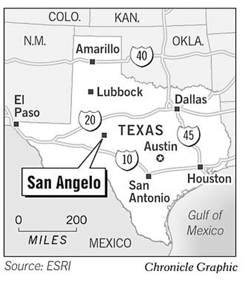 San Angelo, Texas. Chronicle Graphic