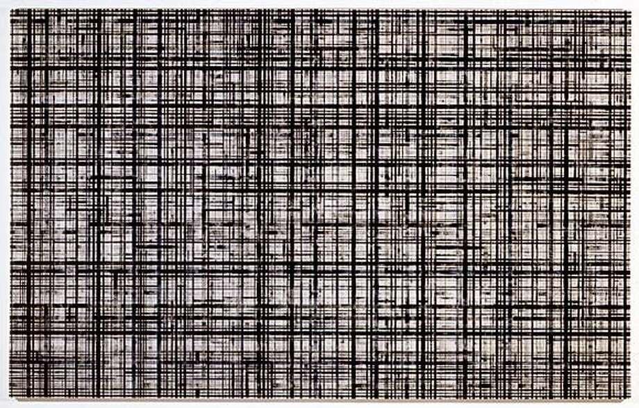 Josh Dov, Pulse 101, 2002, acrylic on canvas, 60 x 96 inches