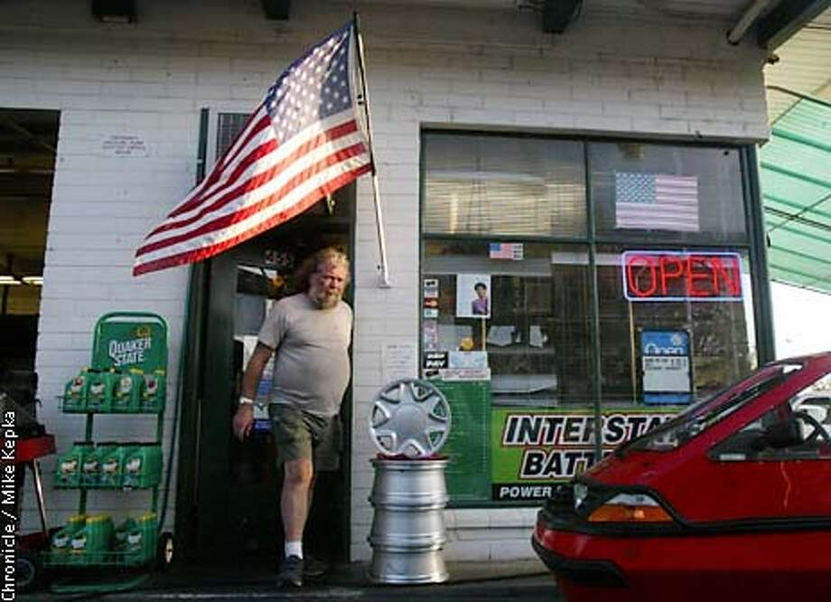 25 year resident of Sonoma, Bob Ferroggiaro agreed it is a changed world since 9/11, as he pays for a tank of gas at Sonoma Automotive. BY MIKE KEPKA Photo: MIKE KEPKA
