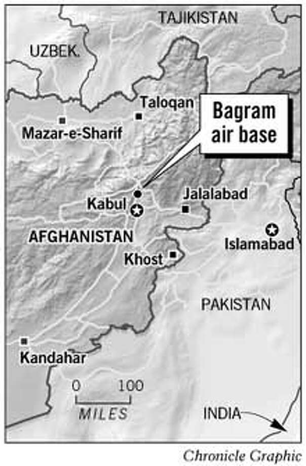 Bagram Air Base, Afghanistan. Chronicle Graphic