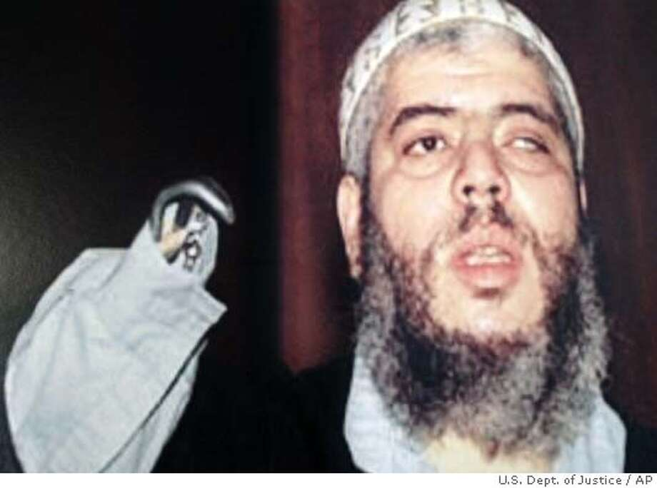 This is an undated photo released in New York by the United States Attorney General of Mustafa Kamel Mustafa, a.k.a. Abu Hamza al-Masri, the former imam at London's Finsbury Park mosque, who was arrested on terrorism charges in Great Britain Thursday, May 27, 2004. (AP Photo/released by the U.S. Dept. of Justice) Photo: HO