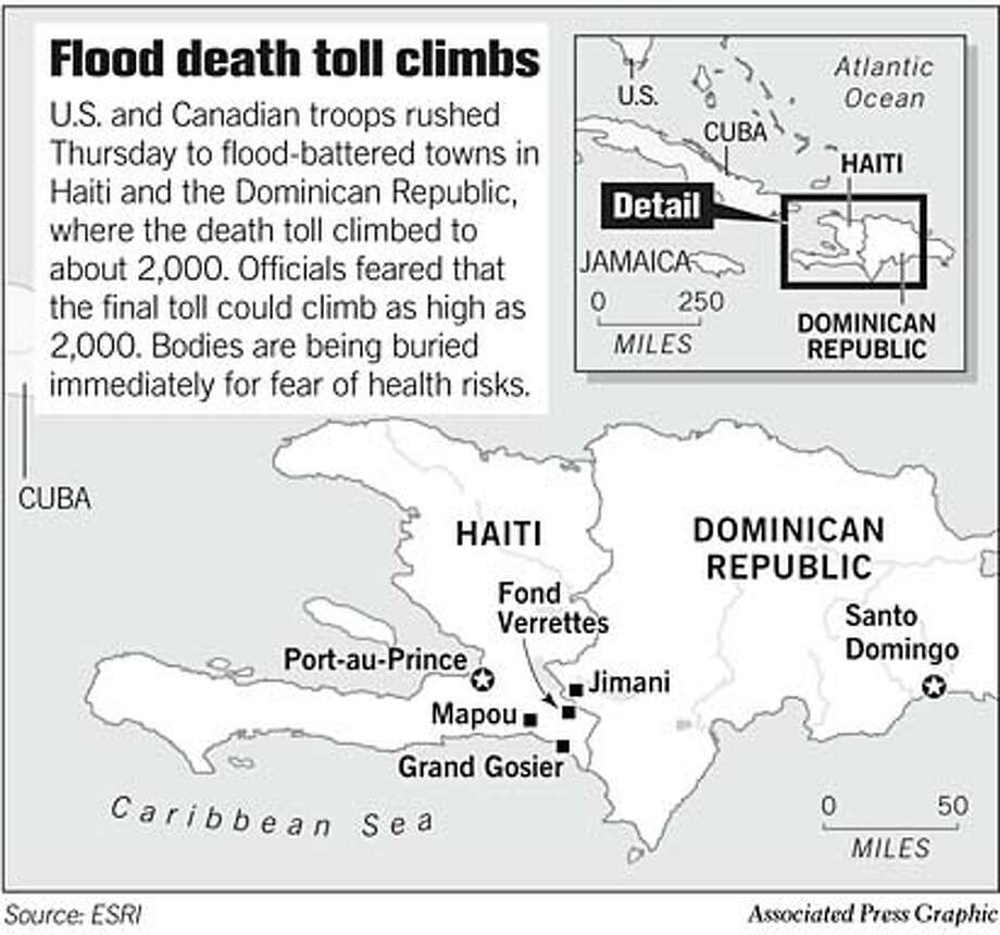 Caribbean Disaster. Associated Press Graphic