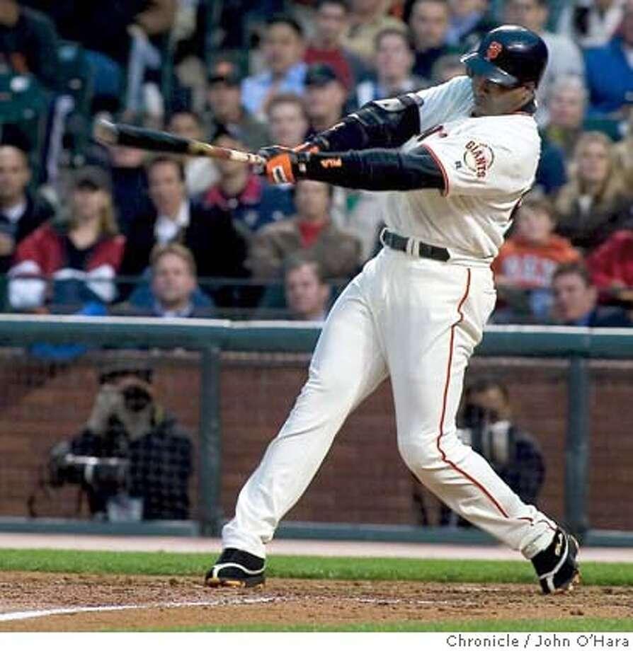 Giants V/s Diamondbacks  Bottom 4th inning. Barry Bonds Home Run #670  photo/John O'Hara Photo: John O'Hara