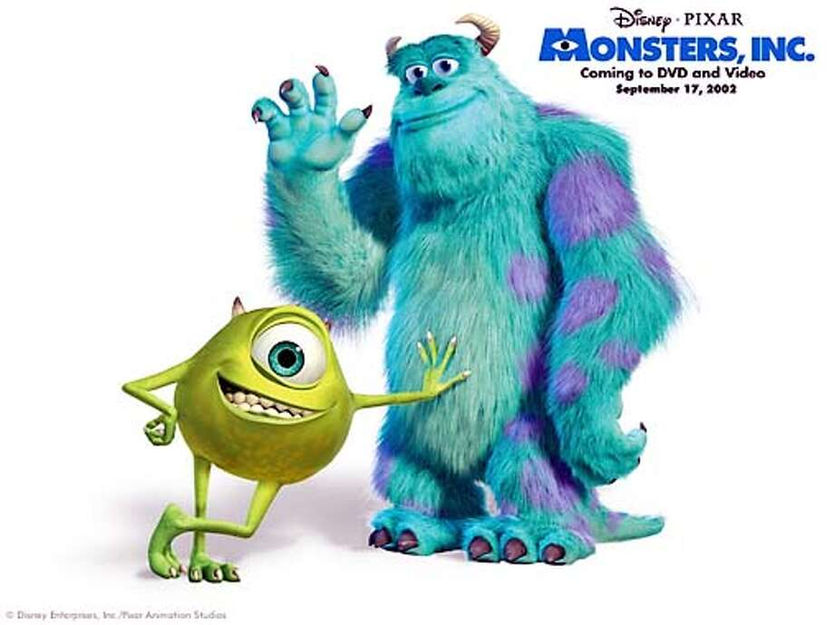 "Mike and Sulley from Pixar's ""Monsters, Inc.""  � Disney Enterprises, Inc./Pixar Animation Studios. All Rights Reserved.  (HANDOUT PHOTO) Photo: HANDOUT"