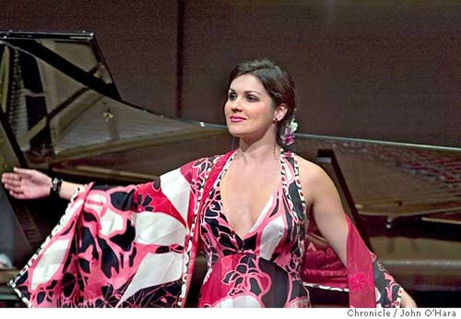 Herbst Theater, 401 Van Ness Ave. San Francisco.  Soprano ,Anna Netrebko in performance  photo/John O'Hara Photo: John O'Hara