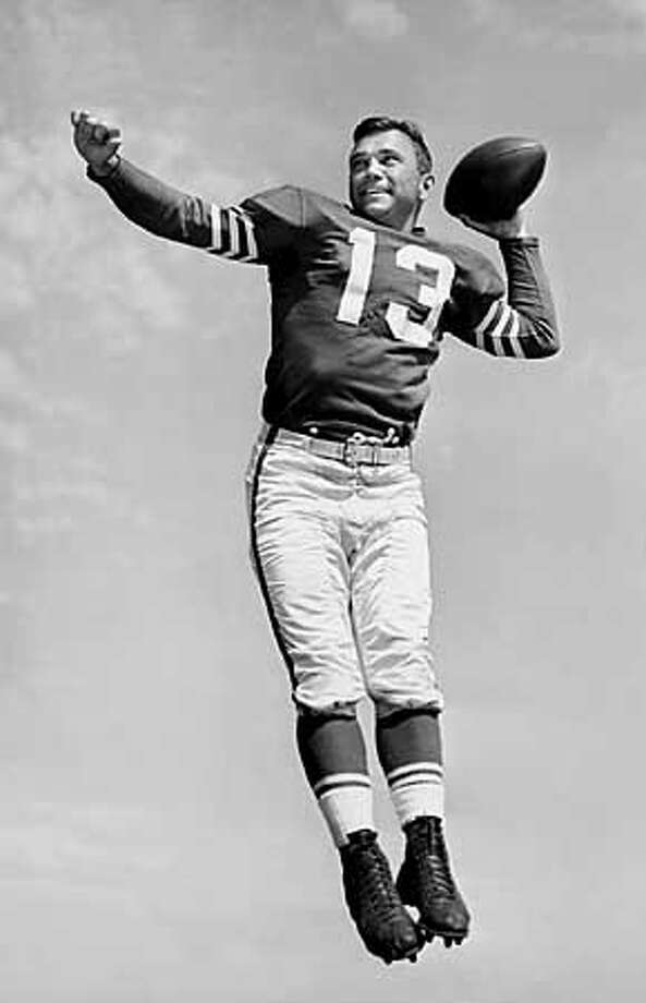 49er QB Frank Albert, 1953. Photo: HANDOUT