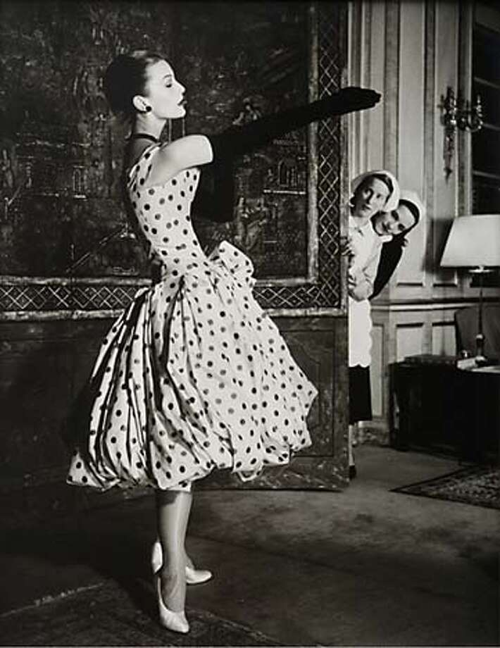 """Mary Jane Russell in Dior Dress, Paris 1950"" Photo by Louise Dahl-Wolfe COPYRIGHTED"