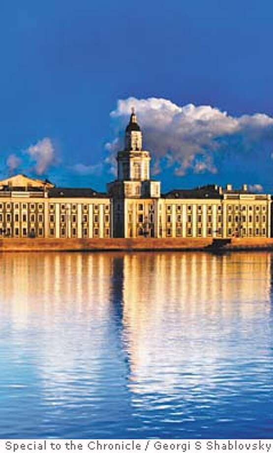 TRAVEL NEXT PRAGUE -- The Museum of Anthropology and Ethnography, reflected in the beautiful blue waters of Bolshaya Neva - St Petersburg Russia Georgi S Shablovsky/Lonely Planet Images Photo: Georgi S Shablovsky/Lonely Plane