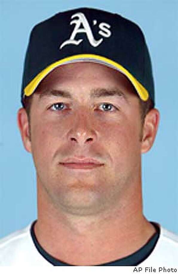 MULDER001_AP.JPG This is a 2003 file photo of Mark Mulder of the Oakland Athletics baseball team (AP Photo/file)  ALSO RAN: 03/18/2004 (3-Star) CAT
