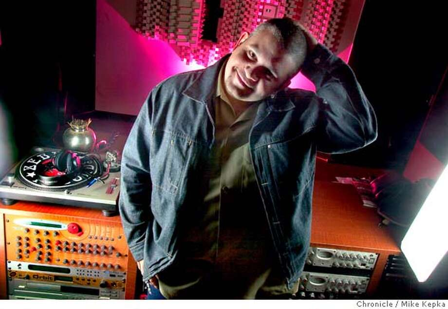 Jay J, house music producer and DJ, in his polk street studio.  Mike Kepka / The Chronicle Photo: Mike Kepka