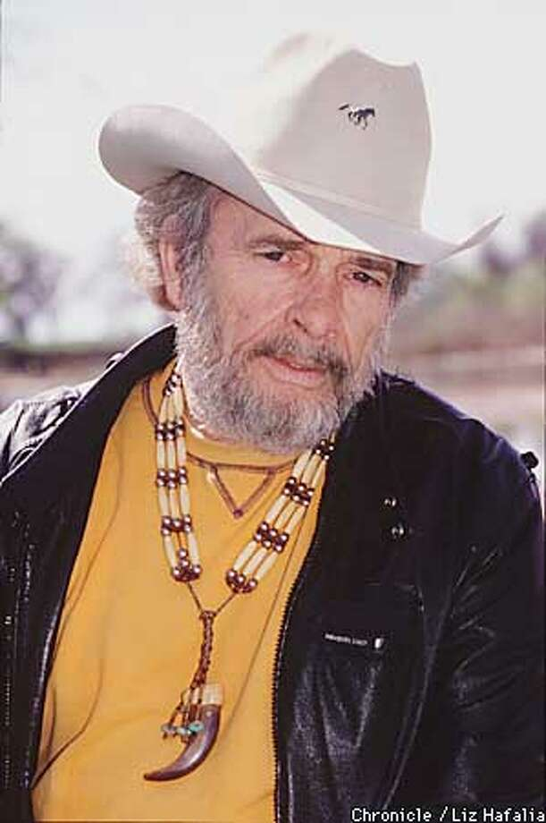 Merle Haggard on his ranch.  (BY LIZ HAFALIA/THE SAN FRANCISCO CHRONICLE) Photo: LIZ HAFALIA