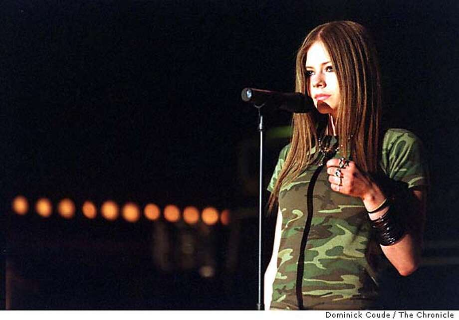 AVRIL-b Singer Avril Levigne on 4/29/03 in New York. Dominick Coude / The Chronicle MANDATORY CREDIT FOR PHOTOG AND SF CHRONICLE/ -MAGS OUT Photo: Dominick Coude