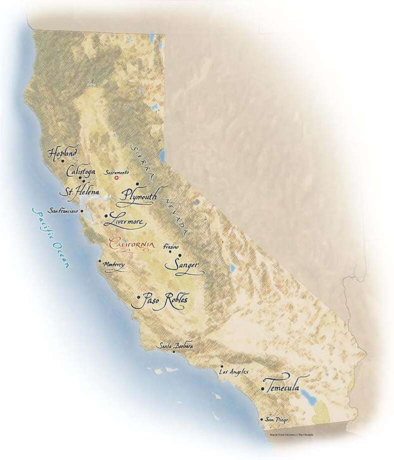 California Wineries. Chronicle map by Todd Trumbull