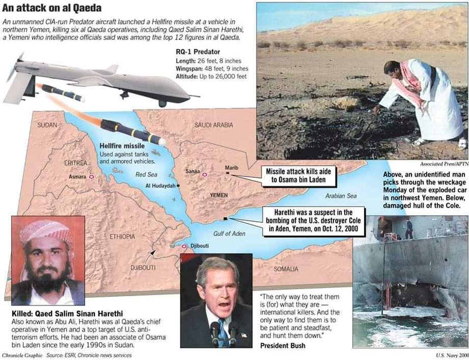 An Attack on Al Qaeda. Chronicle Graphic