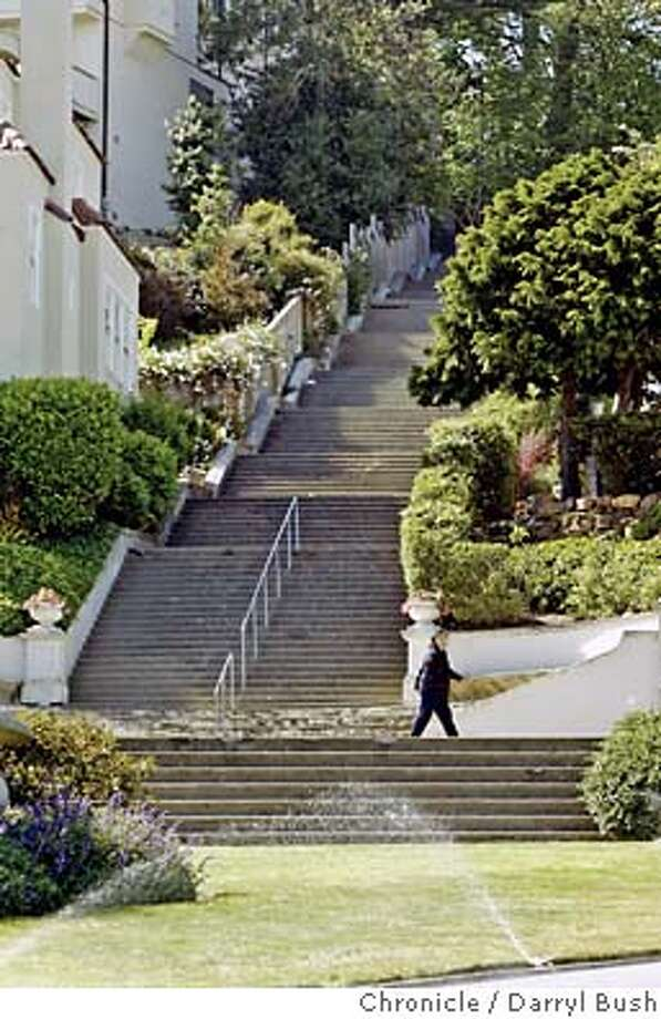 The Pacheco Street Stairway in the Forest Hill neighborhood.  Event on 5/14/04 in San Francisco.  Darryl Bush / The Chronicle Photo: Darryl Bush