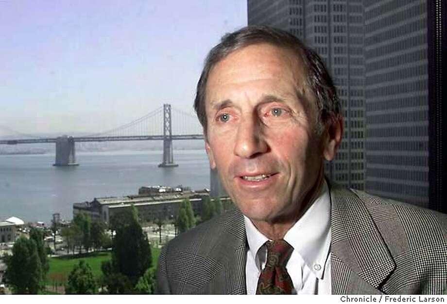 WARREN2-23APR01-BU-FRL: A profile of SF financier Warren Hellman of Hellman & Friedman, One Maritime Plaza, SF. Chronicle photo by Frederic Larson Photo: FREDERIC LARSON