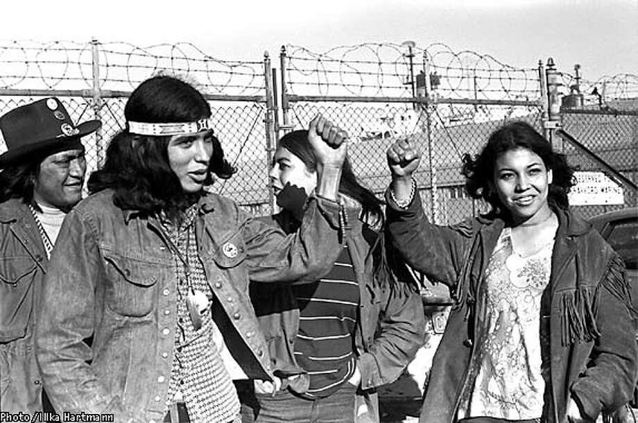 Red Power salute on the Alcatraz docks (1971)  Photo: Illka Hartmann Photo: HANDOUT