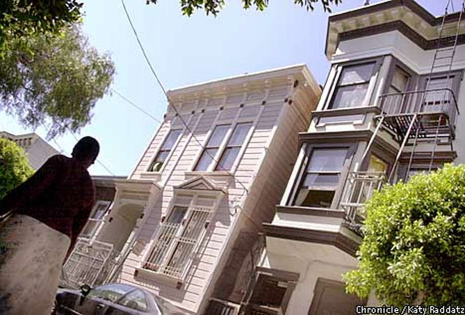 Ivy Street in Hayes Valley is home to Victorian cottages and houses. Chronicle photo by Katy Raddatz