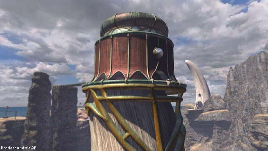 Shown in this undated handout is an image from the PC game, Myst III:Exile, an adventure series produced by Presto Studios. The world builders of Myst and Riven have helped create a world of stunning photorealism, heightened interactivity and puzzles galore.(AP Photo/Presto Studios,HO)