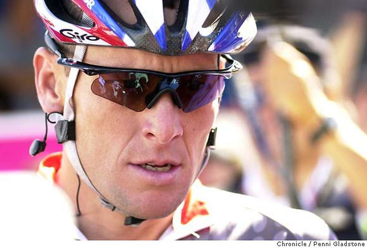 RACE159_pg.jpg Intense Lance Armstrong just before the beginning of the men's race. T-Mobil International bicycle race, men's and women's 9/14/03 in San Francisco. PENNI GLADSTONE / The Chronicle ProductNameChronicle ProductNameChronicle ProductNameChronicle