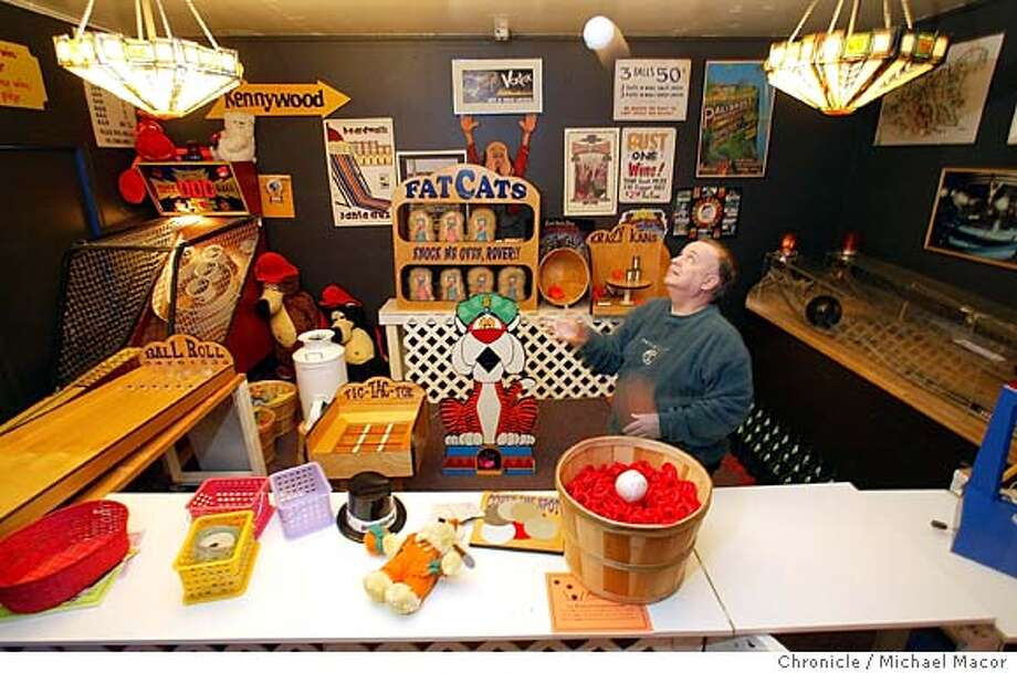 Turks surrounded by some of the arcade games he acquired from the old SF Playland. Richard Turks is an El Cerito businessman with multiple side hobbies, one of which is collecting memorabilia from San Francisco's Playland at the Beach, the famed Ocean Beach Amusement park which closed in 1972. event on 2/26/04 in El Cerrito Michael Macor / San Francisco Chronicle Photo: Michael Macor