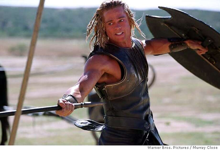 "Brad Pitt stars as 'Achilles' in Warner Bros. Pictures' epic action adventure ""Troy,"" ( Warner Bros. Pictures / Murray Close) Photo: MURRAY CLOSE"