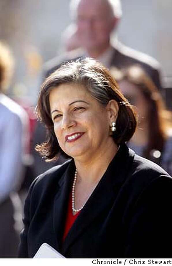 LEAL04-C-07JAN03-MT-CS San Francisco Treasurer Susan Leal announced her candidacy for SF mayor today on the steps of SF City Hall. A vocal and supportive crowd of about 200 supporters listened as the candidate, a mother, lesbian and daughter of Mexican immigrants as she touted her years of government service and public and private sector accomplishments. BY CHRIS STEWART/THE CHRONICLE Susan Leal Photo: CHRIS STEWART