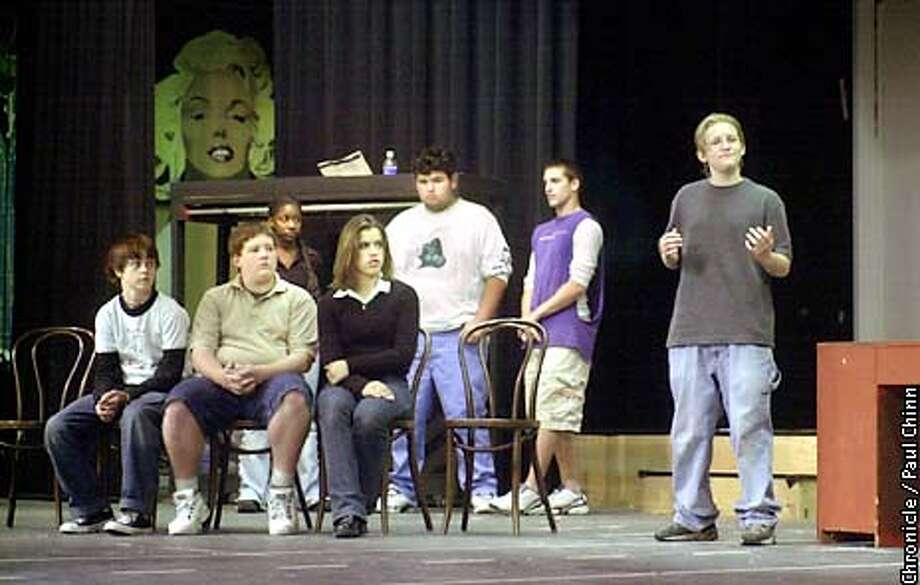 """Drama students rehearsed a scene from Newark High School's production of """"The Laramie Project"""" which will debut in November.  PAUL CHINN/S.F. CHRONICLE Photo: PAUL CHINN"""