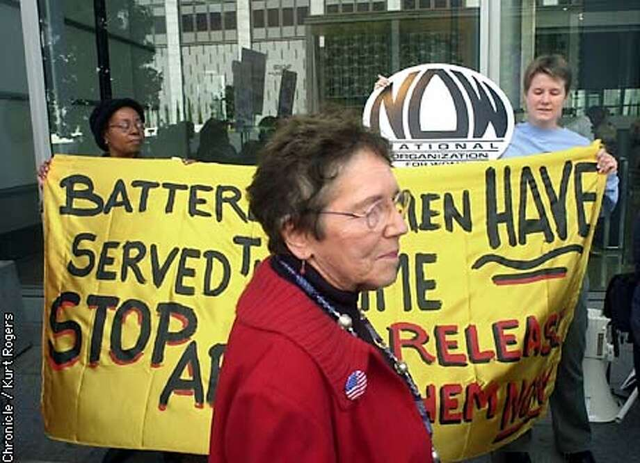 Paula Bunney who's daughter Marsha is in prison wants to see her release . Paula was out front of the state building in san Francisco for a noon time raley and to deliver letters to the Gray Davis's office.Photo By Kurt Rogers Photo: Kurt Rogers