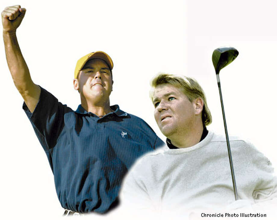 Rich Beem, left, was ranked No. 154 just three weeks ago. His rise from nowhere recalls the early success of John Daly, right. Chronicle Photo Illustration
