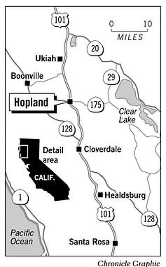 Hopland. Chronicle Graphic