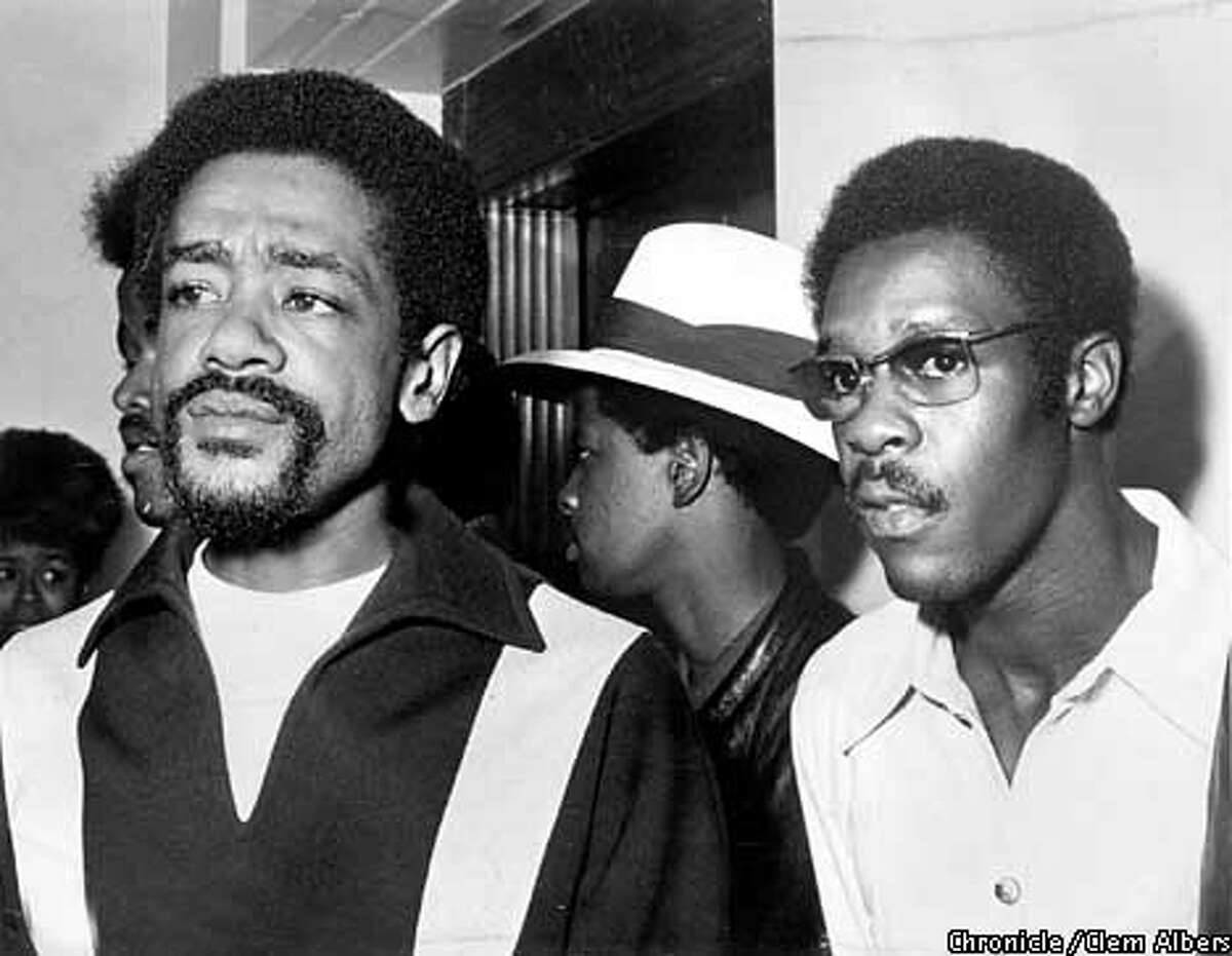Bobby Seale and David Hilliard. CHRONICLE PHOTO BY CLEM ALBERS