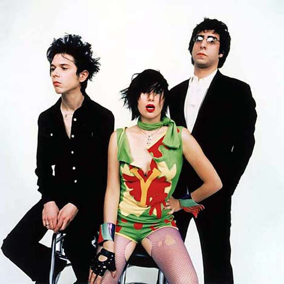 The Yeah Yeah Yeahs: Lead singer Karen O�s fashion statementsinvolve torn fishnets and broken car parts.