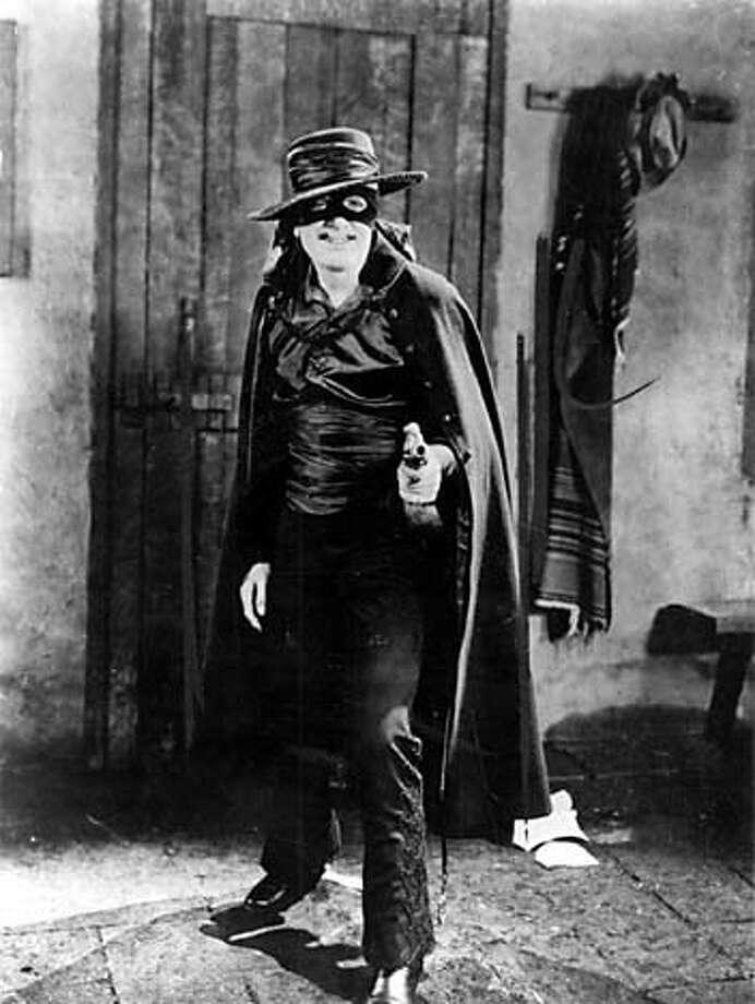 THIS IS A HANDOUT IMAGE. PLEASE VERIFY RIGHTS. ZORR3-B-24APRIL03-DD-HO The Mark of Zorro (1920), starring Douglas Fairbanks, Sr.
