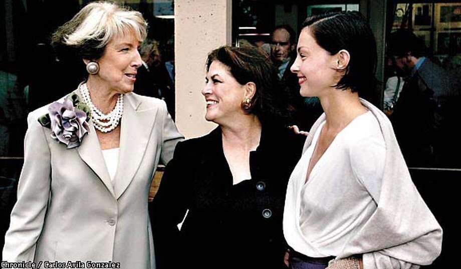 Event chair Debra Dooley and Piper Evans with goddaughter Ashley Judd. Chronicle photo by Carlos Avila Gonzalez
