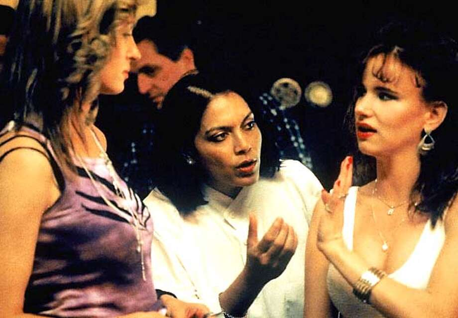 """Uma Thurman, director Mira Nair and Juliette Lewis on the set of HBO's """"Hysterical Blindness.'"""