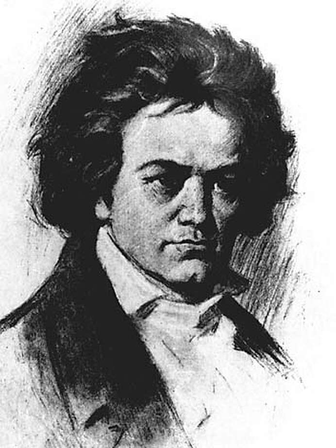 Neo-classical composer Ludwig Van Beethoven is seen in this undated sketch. After a dozen years of comparing Beethoven's original scribblings with later copies, British musicologist Jonathan Del Mar is giving the music world reason to reconsider long-held notions of the composer's work - and the popular image of Beethoven as a sloppy genius. (AP Photo) ALSO RAN: 01/25/2001 CAT