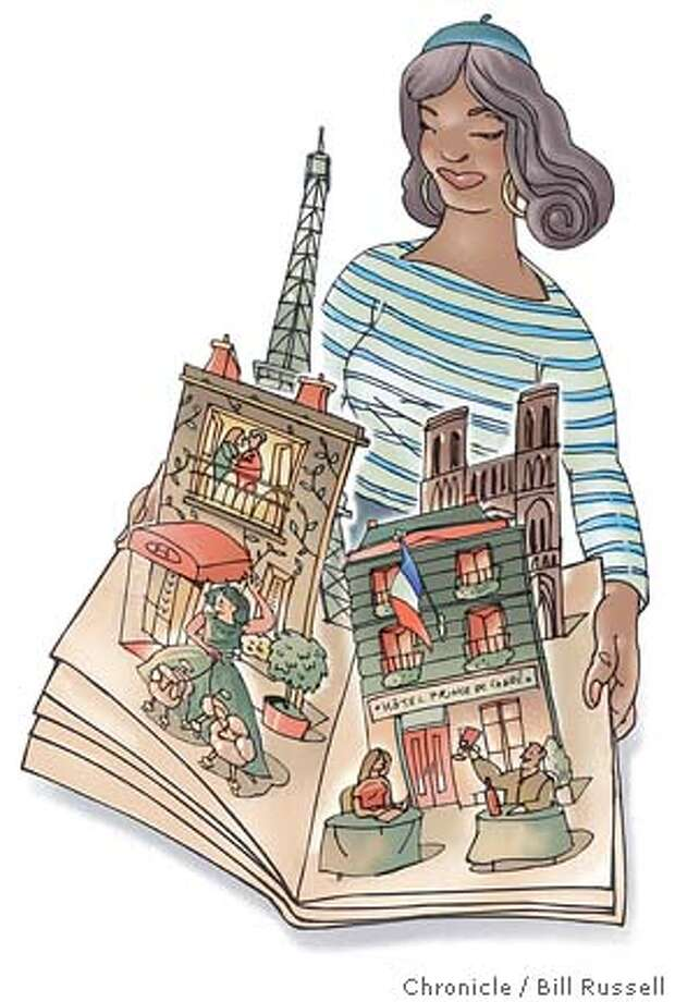 City of light on the wallet: Paris guidebook authors share their favorite budget hotels. Chronicle illustration by Bill Russell Photo: Bill Russell