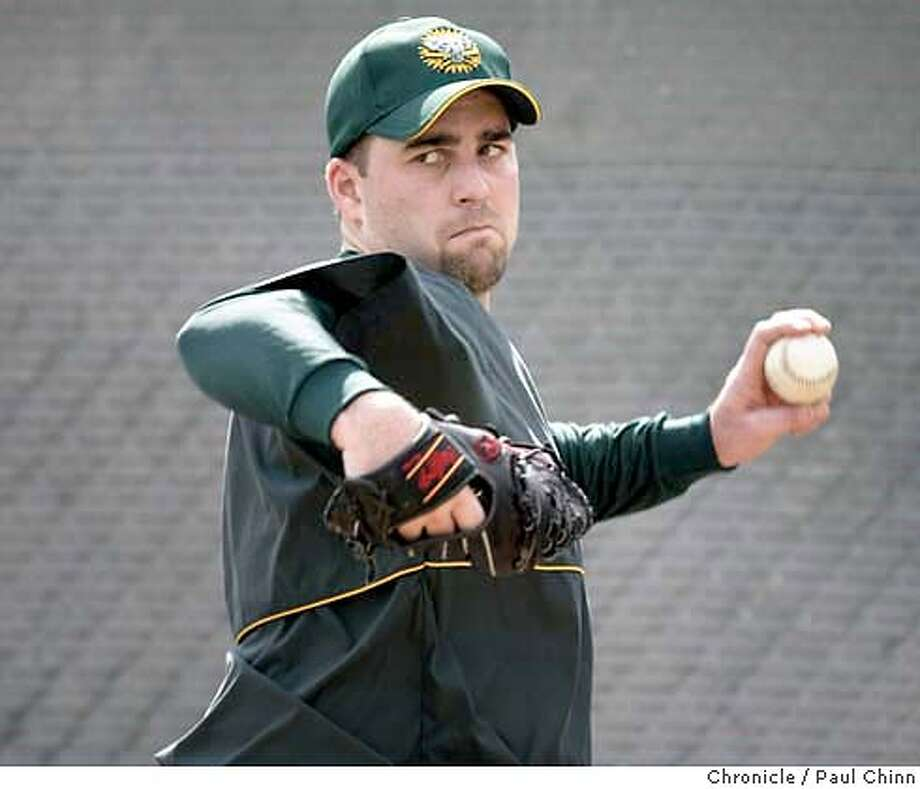 athletics25_113_pc.JPG Mark Redman threw 40 pitches during Tuesday's workout. The Oakland Athletics continue 2004 Spring Training workouts on 2/24/04 in Phoenix, AZ. PAUL CHINN / The Chronicle Mark Redman lasted less than two innings, allowing five hits and three runs. Mark Redman lasted less than two innings, allowing five hits and three runs. MANDATORY CREDIT FOR PHOTOG AND SF CHRONICLE/ -MAGS OUT Photo: PAUL CHINN