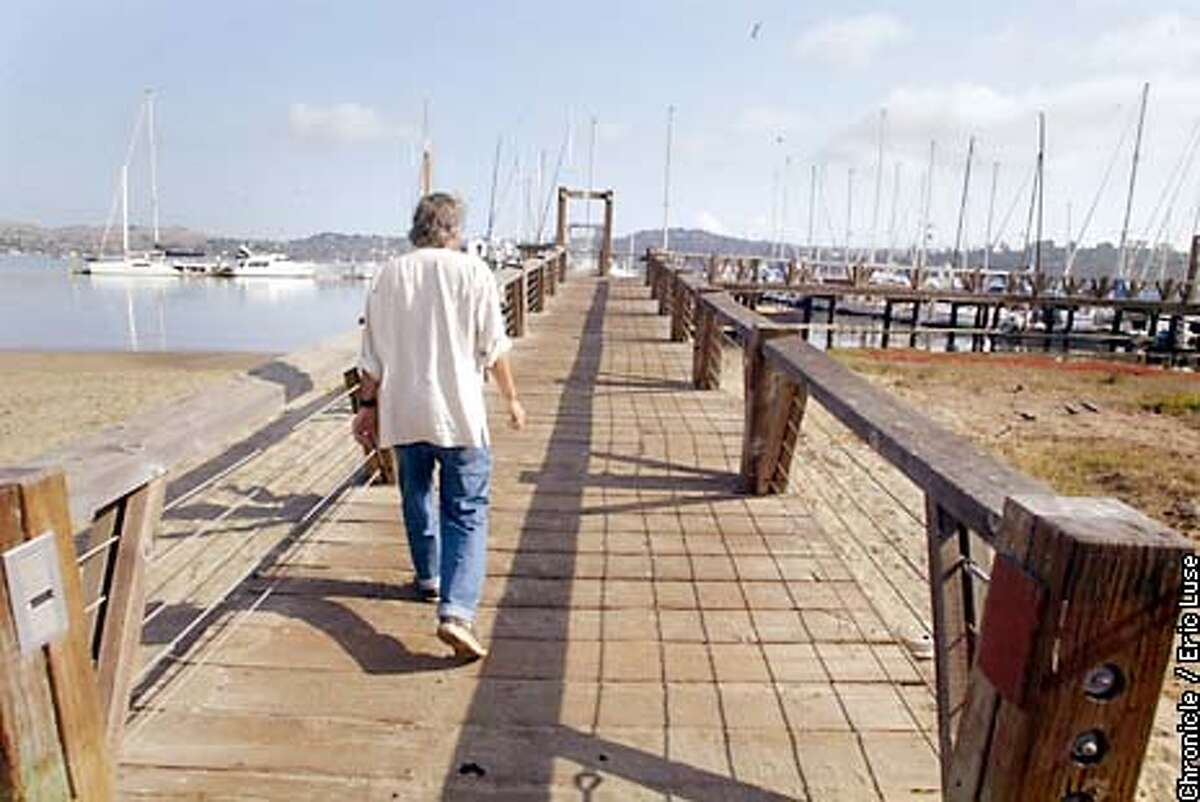 Richard Spindler, founder of Latitude 38 in heading towards the docks of Sausalito where he keeps his catamaran. BY ERIC LUSE/THE CHRONICLE