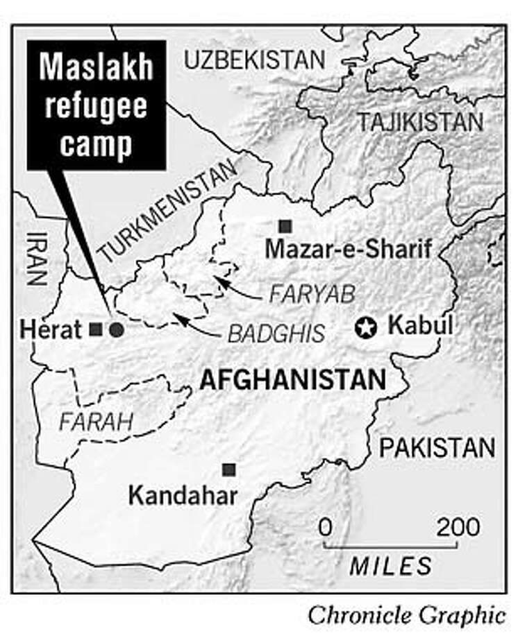 Maslakh Refugee Camp. Chronicle Graphic