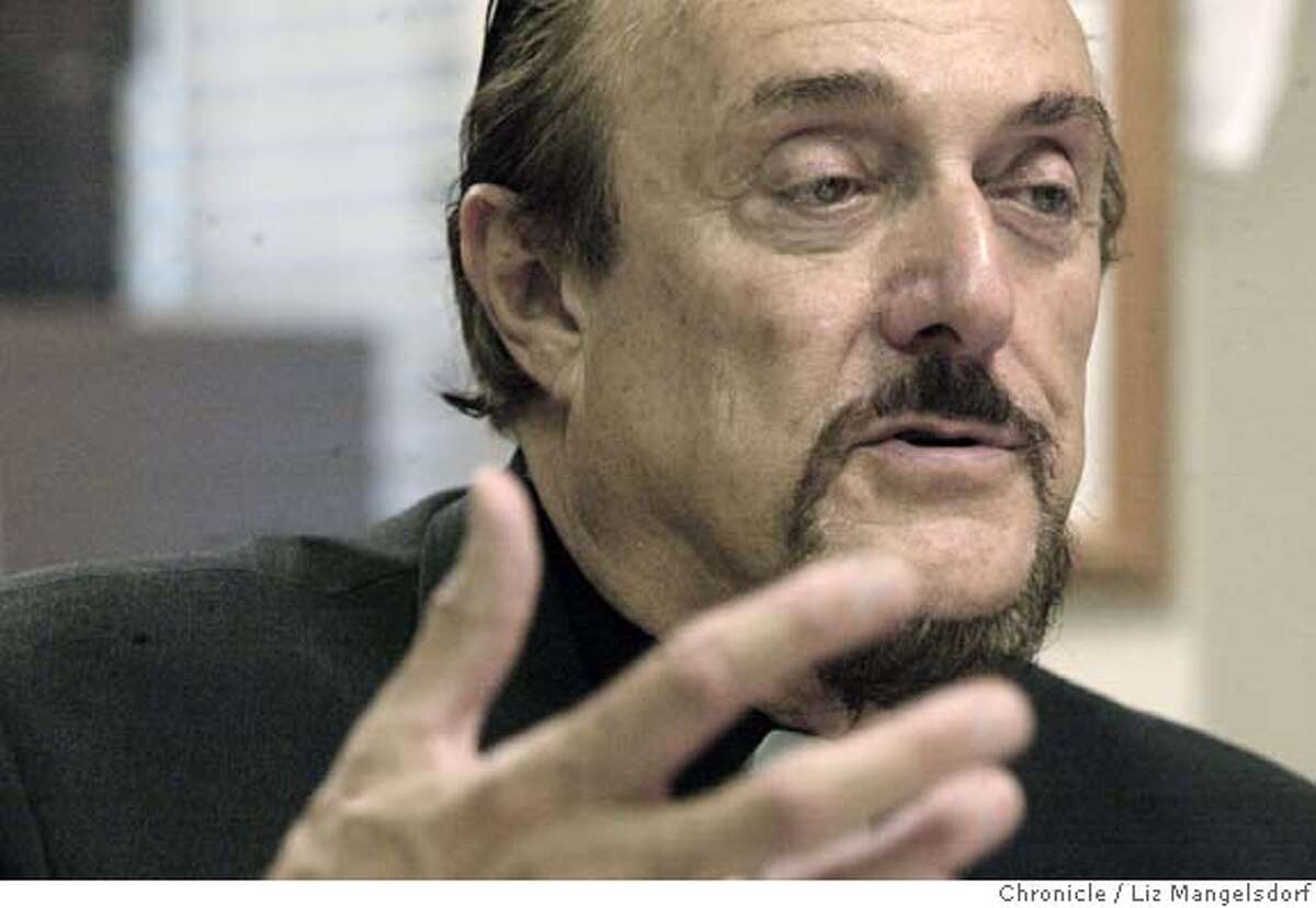 46FB0148.JPG Event on 5/29/03 in Palo Alto. Philip zimbardo talking in his office. Profile of Philip Zimbardo, retiring psychology professor at Stanford. He founded the Shyness Clinic and ran the infamous prison experiment where some students took their roles so seriously that some almost had psychological breakdowns. LIZ MANGELSDORF / The Chronicle MANDATORY CREDIT FOR PHOTOG AND SF CHRONICLE/ -MAGS OUT