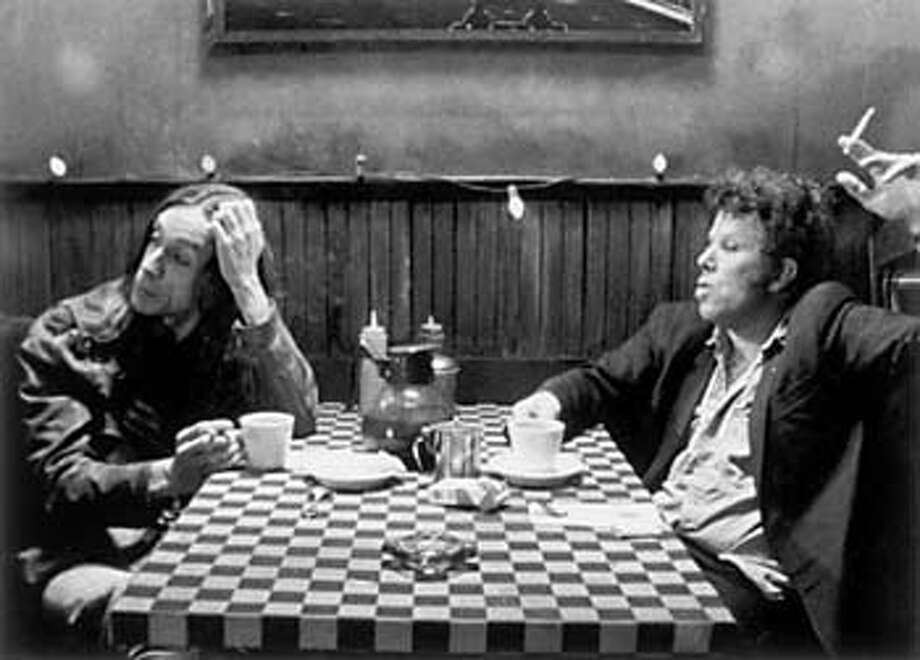 "for preview04 art; Iggy Pop and Tom Waits in ""Coffee and Cigarettes"" , / HO"