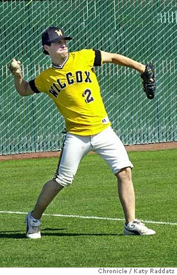 SHOWN: Jeff Gordon is a star player for Wilcox High and a star player for coach David Currie. Wilcox High School in Santa Clara continues to be a baseball success in the Central Coast Section. Shoot date is 4/29/04; reporter is Jordan Robertson (freelance). Katy Raddatz / The Chronicle Photo: Katy Raddatz